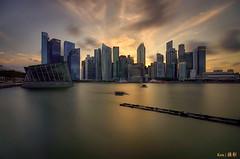 CBD Sunset (Feb 2016) (Ken Goh thanks for 2 Million views) Tags: sunset sky orange cloud sun reflection water silhouette skyline buildings pentax smooth sigma cbd 1020 centralbusinessdistrict citiscape ingapore k5iis
