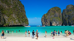 the beach (djlefevre) Tags: people colour beach water landscape thailand island sand phiphi thebeach 17mm
