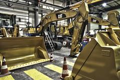 Atelier (xnoszam) Tags: cat nikon machine caterpillar loader tp hdr pelle excavator atelier godet d90 chargeur hydraulique 320e bergerat 926m monnoyeur 972m 374f