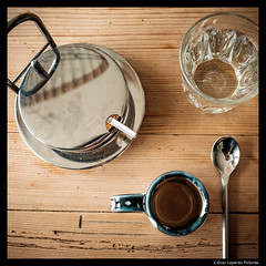 EXPLORING SIMPLICITY (EnzoLopardoPictures) Tags: stilllife table wooden wasser spoon squareformat jar espresso pause brownsugar tisch lffel glas zucker holztisch glassofwater zuckerdose enzolopardo