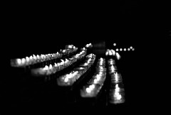 Candlelight in Cologne Cathedral (eiljot) Tags: bw white black canon germany deutschland 50mm candle cathedral dom cologne kerze kln schwarz weis 7dii michaeldernbach