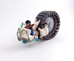 """Pegasus"" (_TrapleS_) Tags: wheel lego space pegasus cockpit rover screen galaxy future scifi spaceman cosmonaut afol monowheel monobike"