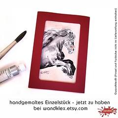 Da ist was in den #etsyshop... (wandklex Ingrid Heuser freischaffende Knstlerin) Tags: horses art painting g kunst pony etsy pferde pferd comission aquarell malerei affordable handgemalt ponyhof vollblut etsyshop auftragskunst wandklex uploaded:by=flickstagram instagram:venuename=bahnhofratzeburg instagram:venue=51075171 instagram:photo=11784214644321840231487357881 hahnem