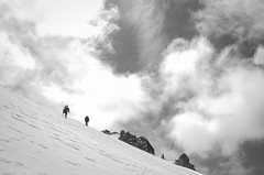 Time (VernsPics) Tags: world new people white mountain snow black clouds turn big veil time small nuns climbing zealand mountaineering around