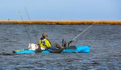 """What """"roughin' it"""" looks like......... (Cajun Snapper) Tags: sunglasses cruising kayaking boating handheld paddling redfish saltwater icechest southlouisiana speckledtrout pelicanstate depthfinder chefpaulprudhomme coastallouisiana lovelylouisiana rodnreel marshesandswamps blackenedredfish levelhorizon"""