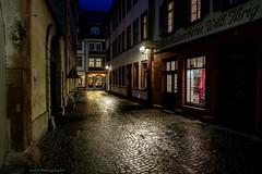Night in Heidelberg (bernd obervossbeck) Tags: heidelberg evening eveningmood abend abendstimmung altstadt historiccity strasenbeleuchtung streetlight atmosphere atmosphäre fujixt1 berndobervossbeck nachtaufnahmen