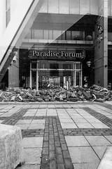 Demolition of Paradise (Caterix) Tags: city blackandwhite black reflection shopping construction birmingham paradise geometry demolition shape angular westmidlands brum secondcity leadinglines paradiseforum