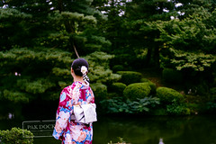 Kenrokuen - Kanazawa (@PAkDocK / www.pakdock.com) Tags: life travel viaje trees green love nature water girl japan gardens 35mm river garden japanese colorful peace g sony voigtlander maiko geisha zen yukata kimono japon kanazawa nokton fabrics kenrokuen twitter a6000 pakdock sonya6000 facepak