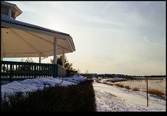 160206-4059-EOSM.jpg (hopeless128) Tags: sunset snow canada building newbrunswick moncton bandstand riverview 2016
