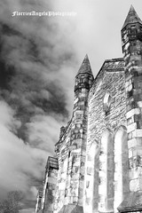 Phantasmagoria (Florries Angel) Tags: blackandwhite church monochrome contrast mono blackwhite gothic goth perspective churches monotone flintshire bagillt