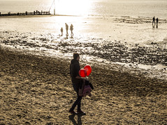 Balloons on the Beach - Hunstanton (GOR44Photographic@Gmail.com) Tags: sea people beach water balloons coast sand norfolk fujifilm hunstanton xf1 gor44