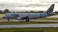 2014_10_25_MAN0010 (COOLMORE PHOTOGRAPHY) Tags: man manchester airport aircraft airliner airliners manchesterairport embraer egcc flybe embraer175 e175 gfbji