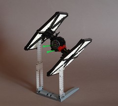 TIE/sf space superiority fighter (Sydag) Tags: starwars lego space scifi tiefighter moc starfighter firstorder superiority spacefighter episodevii sienar theforceawakens tiesf