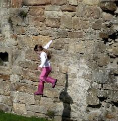 Katie P...........The Jumper. (alanpeacock2) Tags: zkyfall katie richmond wellies freefall richmondcastle explore specialk jump nofear notafraid notscared fearless skyfall jumpforjoy 23jump shewhodares