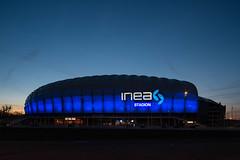 Inea Stadion (pedro4d) Tags: longexposure blue night nikon nightshot shift hour stadion tilt ts inea d800 lech pozna 2435 samyang kolejorz bugarska