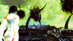 142 (Beth Amphetamines) Tags: wallpaper monster screenshot time beth armor brunette dying tentacle throne traveler mora meinthegame daedra skyrim hermaeus miraak