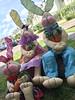 Família de Coelhos (Pina & Ju) Tags: bunny cores easter boneco handmade chocolate artesanato plush páscoa feltro patchwork coelho decoração tecido enfeite conejos cenoura