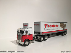 Diecast replica of Firestone Tires Freightliner COE, DCP 32050 (Michael Cereghino (Avsfan118)) Tags: scale truck vintage toy model die cab over engine semi tires replica cast 164 firestone coe trucking promotions diecast dcp freightliner cabover 32050