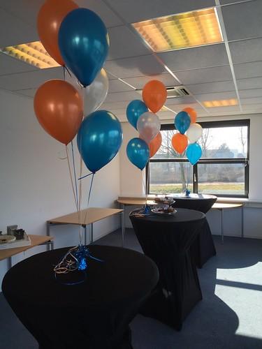 Tafeldecoratie 5ballonnen Gameworld Capelle aan den IJssel