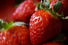 Fresh and juicy! (marsider07 - mostly off for awhile) Tags: red macro fruit juicy strawberries fresh thecolourred macromondays