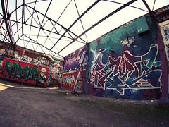 FischEye Test (Markus Rdder (ZoomLab)) Tags: streetart color art wall graffiti kunst olympus fisheye ms graffito muenster mnster hawerkamp writingonthewall olympusomd ms4l