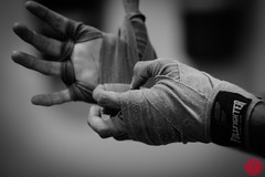 Muay Thai Training (Gabriel Imakawa) Tags: blackandwhite training canon boxing fighting pretoebranco muaythai padwork canon7d