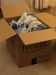 Tyrell's poshcorn win (Elysia in Wonderland) Tags: sea food box salt competition 25 popcorn winner prize bags win won salted tyrells poshcorn
