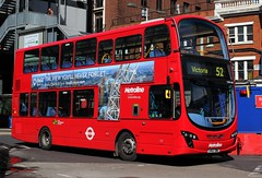 Metroline Travel . VWH 1410 LK62 DWE . Victoria Bus Station , London .  Tuesday 12th-April-2016 . (AndrewHA's) Tags: travel 2 bus london eclipse volvo victoria route wright hybrid gemini 52 tfl metroline 1410 wrightbus vwh b5lh lk62dwe