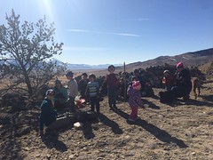 Friday hike crew picnic on hogback