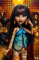 (Lady Barbarella) Tags: monster de high dolls nile custom cleo basic repaint restyled