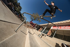 Lazer Crawford crooked grind (memoryhousemag) Tags: arizona fisheye hosoiskateboards memoryhousemag lazercrawford