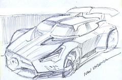 drawing car (ivanutrera) Tags: car pen sketch drawing draw dibujo ilustracion lapicero boligrafo drawingcar dibujoalapicero dibujoenboligrafo