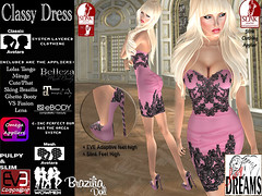 Classy Dress pink (mysticdreams0607) Tags: eve pink texture evening design outfit highheels different dress lace formal sensual latest newest recent apparel physique maitreya slink casualsexy highfeet evemesh