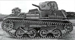 The Type 94 tankette was one of the most widely used Japanese tanks of the 1930s and early '40s. Lightly armored, there were intended for reconnaissance and support, not direct combat, since even a heavy machine gun could penetrate at moderate range.