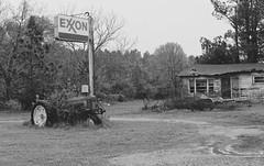 Abandoned Exxon Station (micro.burst) Tags: bw rural georgia exxon fairplay morgancounty pentaxk3 dxoopticspro10