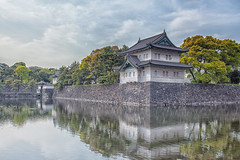 Imperial Palace (ClareC79) Tags: reflection japan architecture canon tokyo palace imperialpalace emperor canon1740mmf4 19100 image19 canon5dmkii 100xthe2016edition