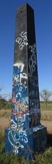 Old Ozark Trail Monument (Stroud, Oklahoma) (courthouselover) Tags: oklahoma route66 obelisks stroud ok roadsideamerica lincolncounty ozarktrailmarkers oklahomacitymetropolitanarea