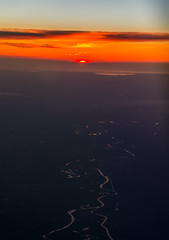 over France_2015_schtArt (schtART) Tags: world night sunrise evening abend fly nikon sonnenuntergang im nacht himmel flugzeug untergrund erde flug vonoben inthesky d7100