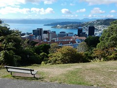 View Across Wellington (mikecogh) Tags: bench landscape coast cityscape view harbour hills wellington