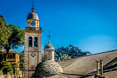 Portofino, fra tetti e cupole (Gian Floridia) Tags: liguria tetti roofs domes portofino cupole smartino