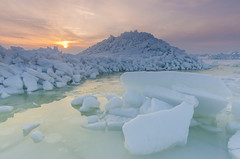 Rsij Peipsi jrvel (Ridged ice on lake Peipsi) (karl.myyrsepp) Tags: winter sunset lake cold ice nature beauty sunrise landscape estonia sigma naturallight baltic iceberg 1020mm scandinavia peipsi landscapephoto nikond7000 rsij ridgedice