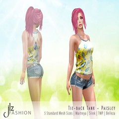 JLZ Fashion--Tie Back Tank [paisley] (JLZ Fashion Management) Tags: summer floral fashion shirt spring tie sl tee jlz