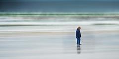 Alone.. (Philip R Jones) Tags: boy sea photoshop seaside kid cornwall child icm ruleofthirds 5yearold