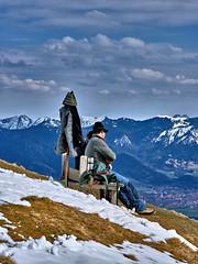 Bavarian Romance (W_von_S) Tags: mountains alps germany bench bayern deutschland bavaria couple outdoor sony paar bank berge alpine harmony romantic alpen werner romantik harmonie romantisch alpenblick mtzwiesel wvons alpha7rm2 alpinewinterpanorama bavarianromance