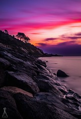 PUSHED TO THE EDGE (Vaughan Laws Photography   www.lawsphotography.com) Tags: longexposure trees sunset sky seascape color beautiful clouds landscape rocks colorful outdoor fineart melbourne le colourful hillside suns sunsetting ndfilter neutraldensityfilter portraitformat longshutterexposure longexposuresunset canon6d longexposurecolour nd10stop melbournelongexposure lawsphotography vaughanlaws