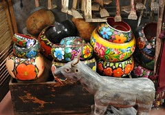 Colorful Gourd Bowls Oaxaca Mexico (Ilhuicamina) Tags: gourds mexico folkart crafts mexican bowls istmo zapotec tehuantepec xicalpextle