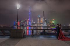 Love in Shanghai (callaway_64) Tags: china wedding night nikon shanghai 20mm pudong thebund d810