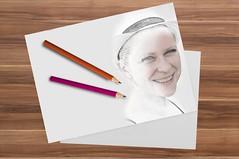 Zeichnung (allfina) Tags: smile women frau bleistift zeichnen