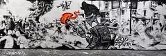 Revolution (HBA_JIJO) Tags: urban panorama streetart black paris france art lines wall painting skull graffiti spray peinture mur lask twe arone charactere twecrew soulevement hbajijo itvankebadiann