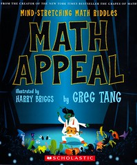 Math Appeal:  Mind-Stretching Math Riddles (Vernon Barford School Library) Tags: new school set reading book high poetry greg library libraries group reads harry books read paperback numbers cover math junior mathematics covers bookcover middle briggs vernon quick puzzles solving maths sets recent counting qr rhyme bookcovers nonfiction groups tang paperbacks grouping grade3 rhymes arithmetic problemsolving riddles barford softcover mathproblems quickreads quickread settheory wordproblems vernonbarford rl3 harrybriggs softcovers teachingmath mathematicalrecreations readinglevel gregtang booksinrhyme 0439210461 9780439210461 booksinverse